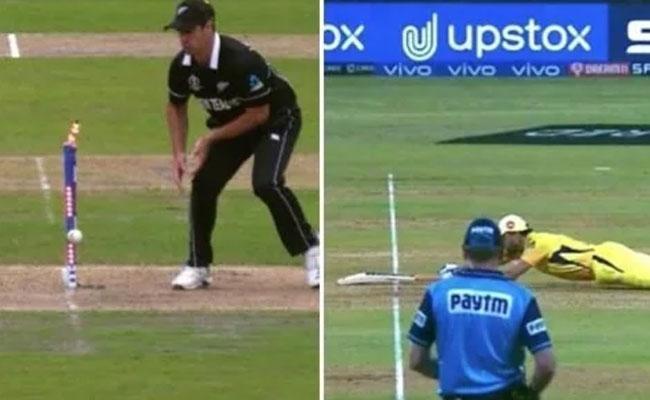 IPL 2021: Dhonis Dive In IPL Brings Back Memories Of 2019 WC Semis - Sakshi