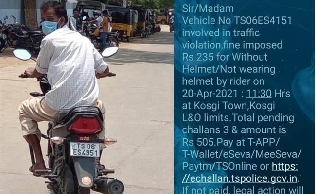 Online Vehicle Number Penalty Problems In Narayanpet - Sakshi