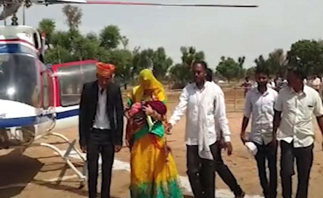 Family First Girl Child 35 Years Home Helicopter Rajasthan - Sakshi
