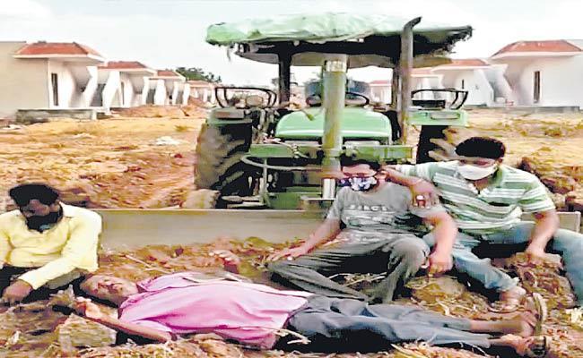 Mallanna Sagar Oustees Refuse To Vacate Lands - Sakshi