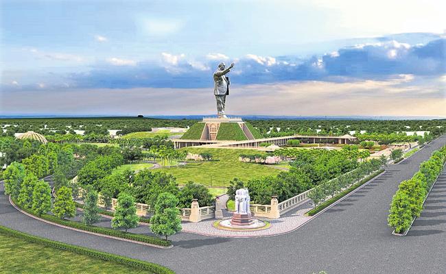 Tenders for construction of Ambedkar statue - Sakshi
