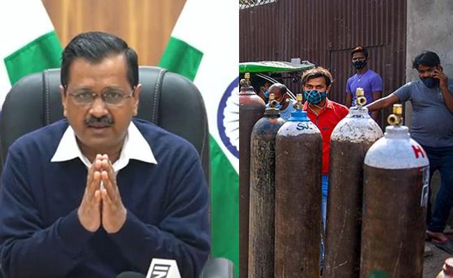 CM Arvind Kejriwal Writes Letter To All Chief Ministers On Oxygen - Sakshi