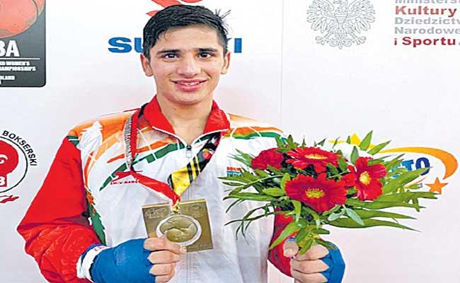 Sachin clinches gold in World Youth Boxing Championships - Sakshi