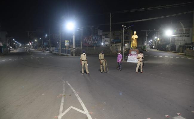 Night Curfew Started In Andhra Pradesh - Sakshi