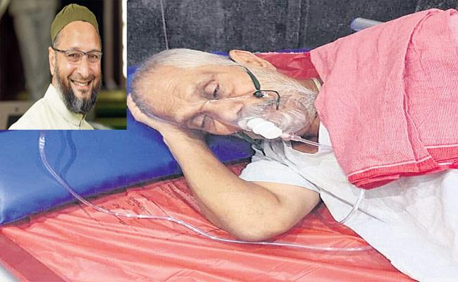 Covid: Asaduddin Owaisi Recommend Bed In Hospital For Priest - Sakshi
