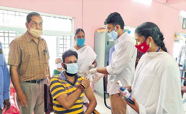 Kodali Nani Taken First Dose Of Covid Vaccine - Sakshi