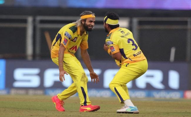 IPL 2021: Imran Thahir Super Run Out To Kyle Jamieson Became Viral - Sakshi