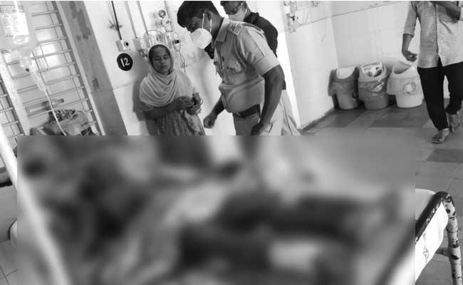 Father Poured Petrol On His Son And Set Him On Fire - Sakshi