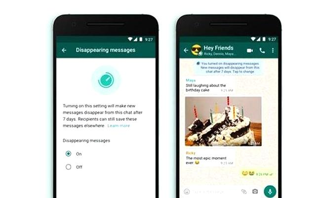 WhatsApp Testing 24 Hours Option for Disappearing Messages - Sakshi