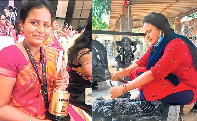 Sakshi Special Story About Female Sculptor Bhuvaneswari