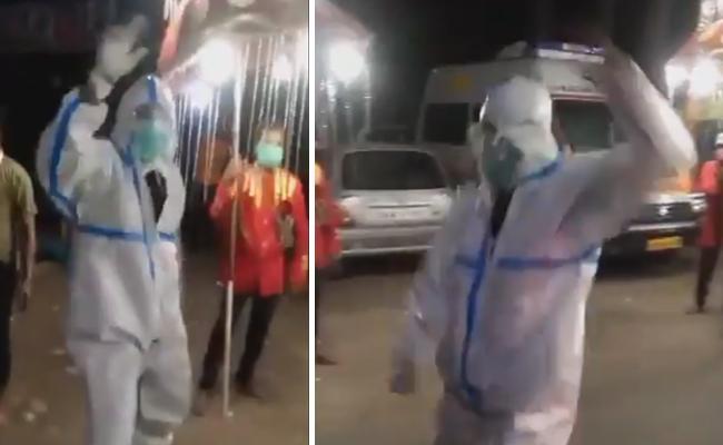 Uttarakhand: Ambulance Driver Dance In PPE Kit - Sakshi