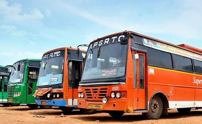 RTC buses with 50 percent passengers - Sakshi