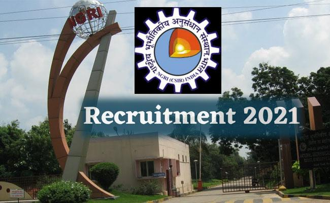 Hyderabad NGRI Recruitment 2021: Technical Assistant, Other Posts - Sakshi