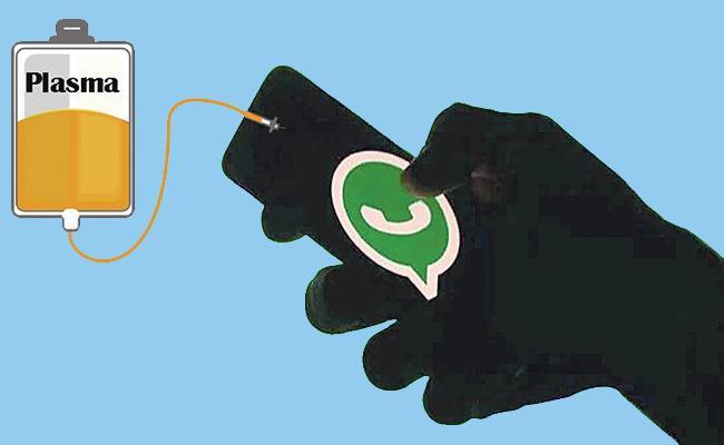 Hyderabad: Fake Messages Whatsapp Plasma Donors Corona - Sakshi