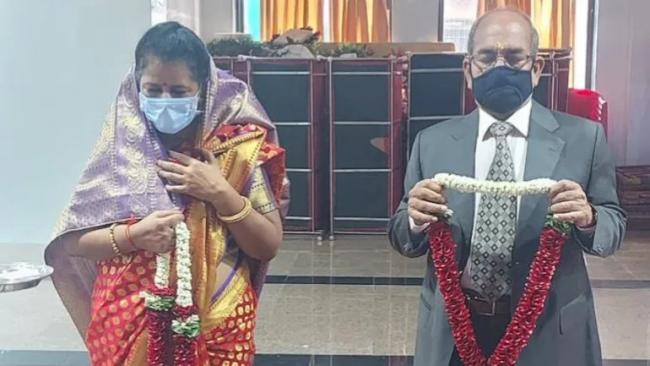 71 Year Old Widower Remarries Widow Daughter Post Pic - Sakshi