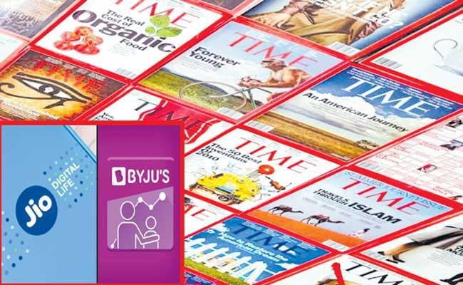 Jio Platforms, Byjus in Times first list of 100 most - Sakshi