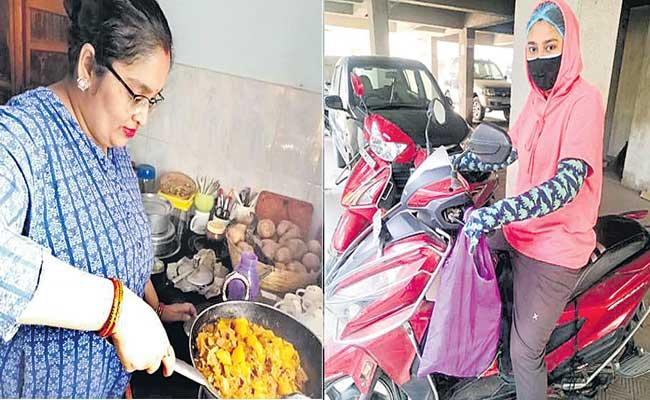 Sister duo in Bihar cook and deliver free food to covid patients - Sakshi