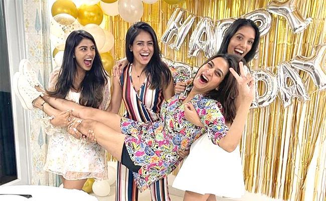 Surekha Vani Birthday Celebrations: Enjoyed Night Party With Friends And Daughter - Sakshi