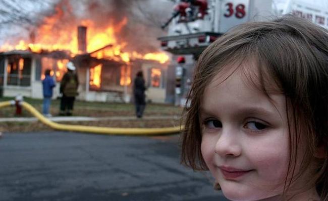 Disaster Girl Zoe Roth Turns Her Meme Into 5,00,000 Dollars NFT - Sakshi