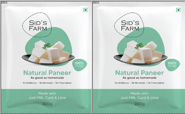 Dairy brand Sids Farm Introduces Natural Paneer - Sakshi