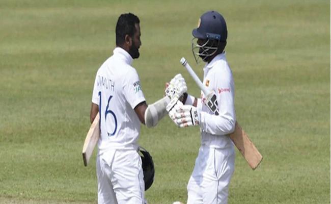 Sri Lanka vs Bangladesh 2nd Test Karunaratne Thirimanne Hit Centuries - Sakshi
