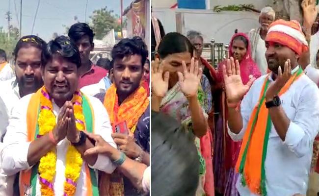 Sagar Bypoll; BJP Candidate Ravi Naik Innovative Campaign - Sakshi