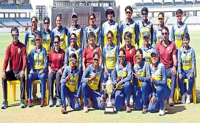 Mithali Raj Railways clinch 12th title with thumping win against Jharkhand - Sakshi