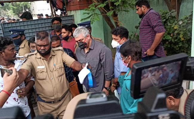 Ajith Upsets Fans Behavior While Tamil Nadu Assembly Election Polling - Sakshi