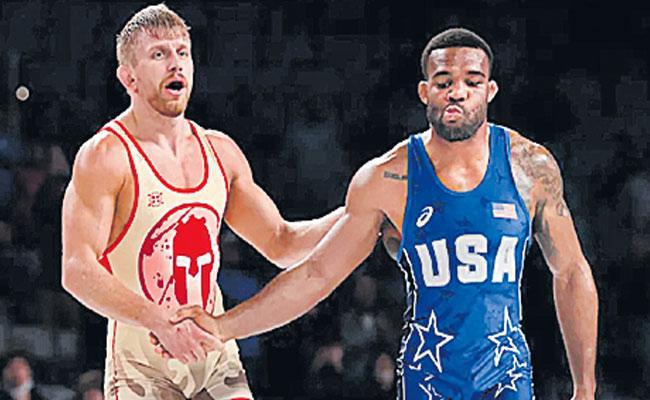 American Wrestler Jordan Burroughs Not Qualified For Tokyo Olympics - Sakshi