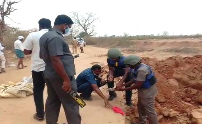 Telangana: Tiffin Box Bomb Recovered In Forest Area, Sircilla District - Sakshi