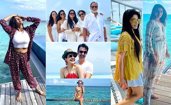 Tollywood Hero And Heroines Enjoying Vacation At Maldives - Sakshi