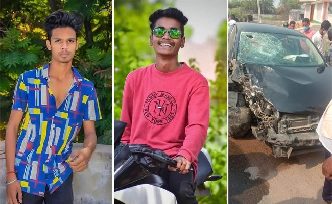 Karimnagar: Bikers To Overtaking RTC Bus And Collided With Car - Sakshi