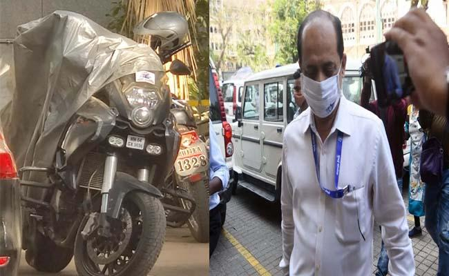 NIA seizes a sports bike allegedly belonging to Sachin Vaze - Sakshi