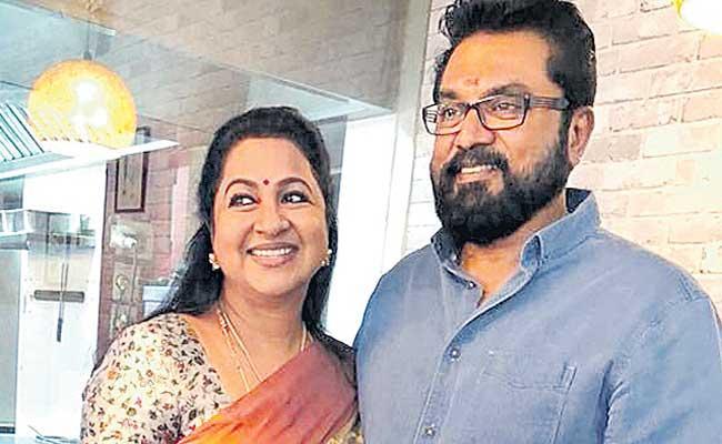 Actors Radikaa, Sarath Kumar sentenced to one year in jail - Sakshi