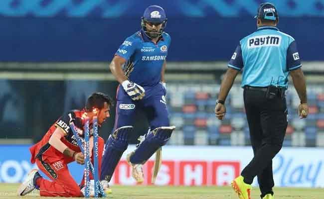 IPL 2021: Rohit Sharma Hillarious Run Out By Virat Kohli Became Viral - Sakshi
