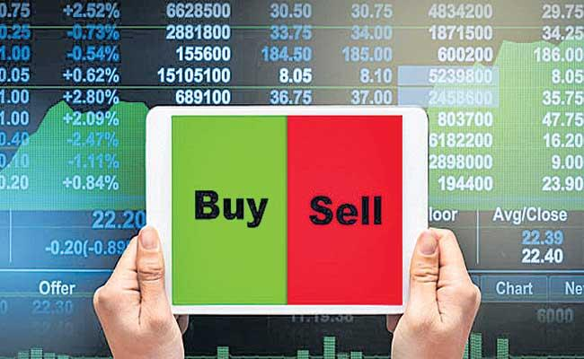 Sensex gains 84 points, Nifty ends above 14,850 - Sakshi