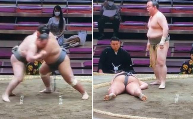 Sumo Wrestler Hibikiryu Died In Bout - Sakshi