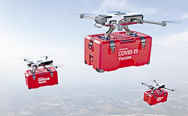 Hyderabad: Central Government Accepts Distribute Covid 19 Vaccine Drone-sakshi - Sakshi