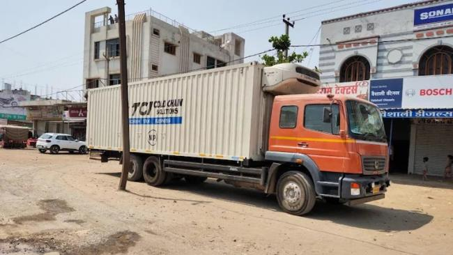 Truck With Over 2 Lakh Covid Vaccine Doses Found Abandoned By Roadside in MP - Sakshi