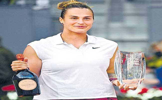 Aryna Sabalenka defeats top-ranked Ashleigh Barty to win Madrid Open - Sakshi