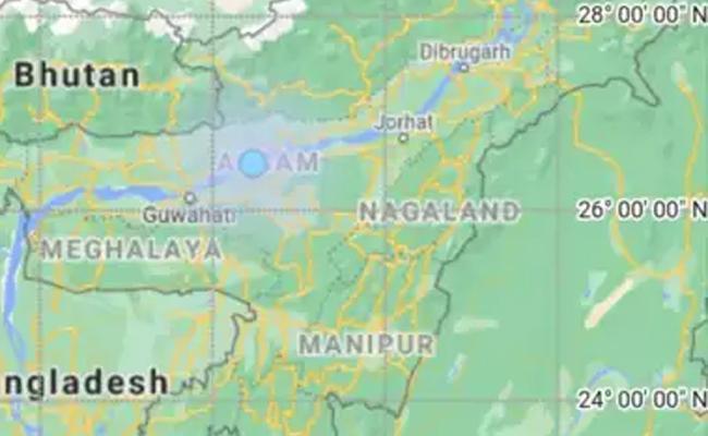 Earthquake Shakes Assam Twice A Day - Sakshi
