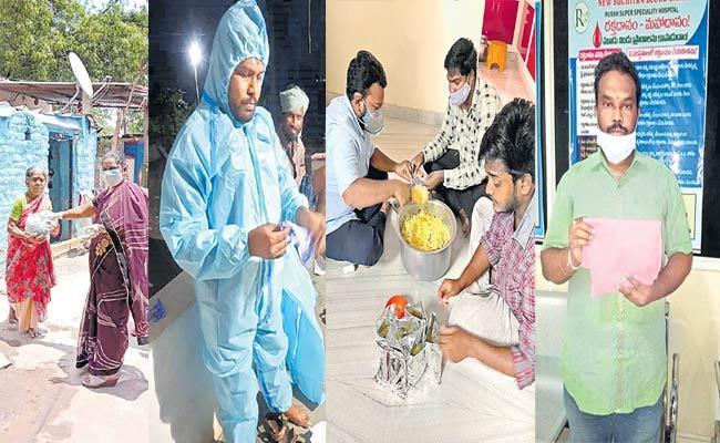 Volunteer Groups Helping To Coronavirus Patients In Telangana - Sakshi