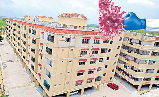 Coronavirus: Madhu Park Ridge Gated Community Apartment People Protect Themselves - Sakshi