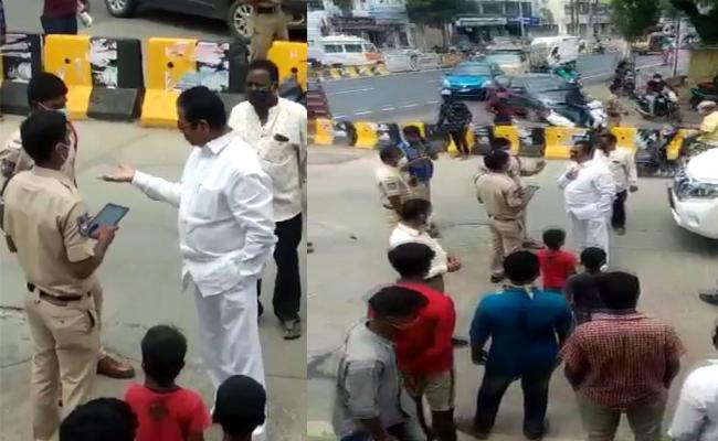 Saroornagar Police Fined To Teegala Krishnareddy For Without Mask - Sakshi