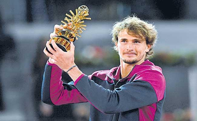 Zverev trumps Berrettini for second Madrid Open title - Sakshi