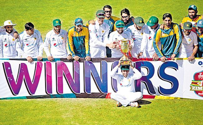 ZIM Vs PAK: By An Innings 147 Runs Pakistan Won 2 Matches Test Series - Sakshi