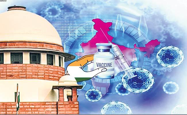 No Judicial Interference: Centre To Supreme Court On Vaccine Policy - Sakshi