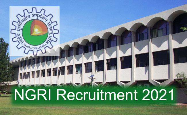 NGRI Recruitment 2021: Apply Project Staff Posts, Eligibility, Selection Details - Sakshi