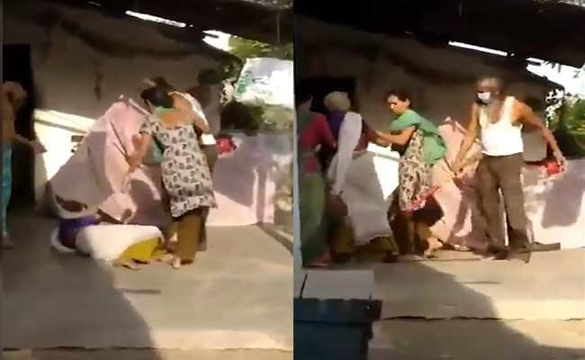Man Beats 75 Years Old Mother With Broom In Gujarat - Sakshi