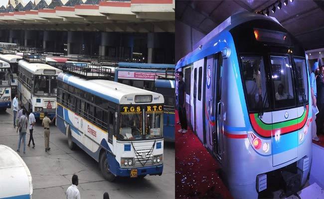Metro And Bus Service Timings In Telangana During Lockdown - Sakshi
